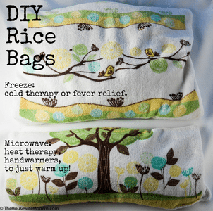 DIY Rice Bags: Use for Hot or Cold