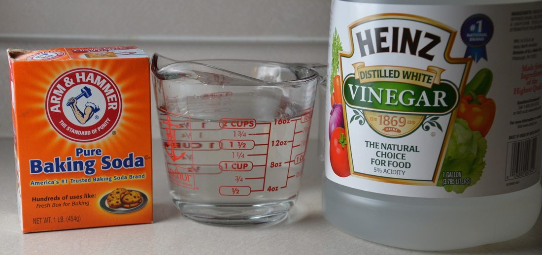 Two simple ingredients to clean your dishwasher: vinegar and baking soda.