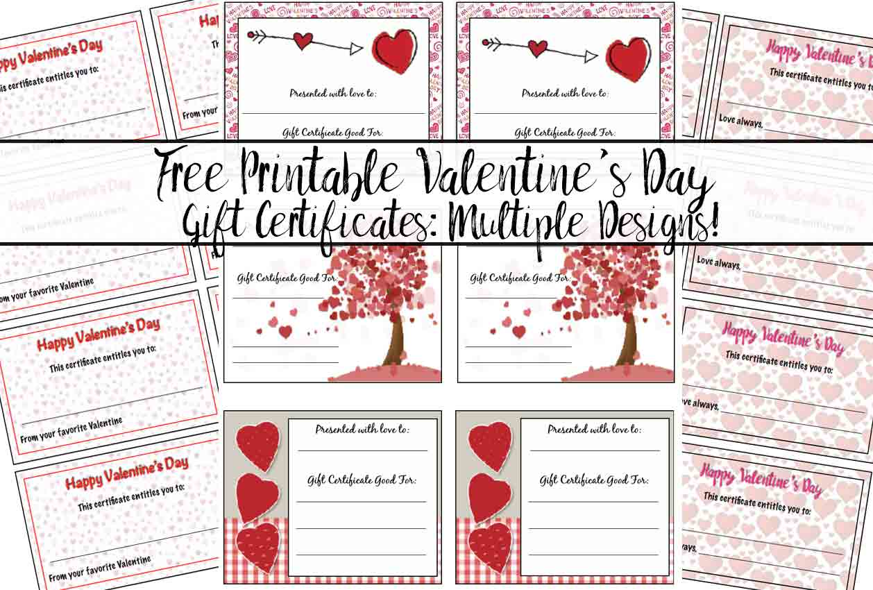 Free printable valentines day gift certificates 5 designs negle Gallery