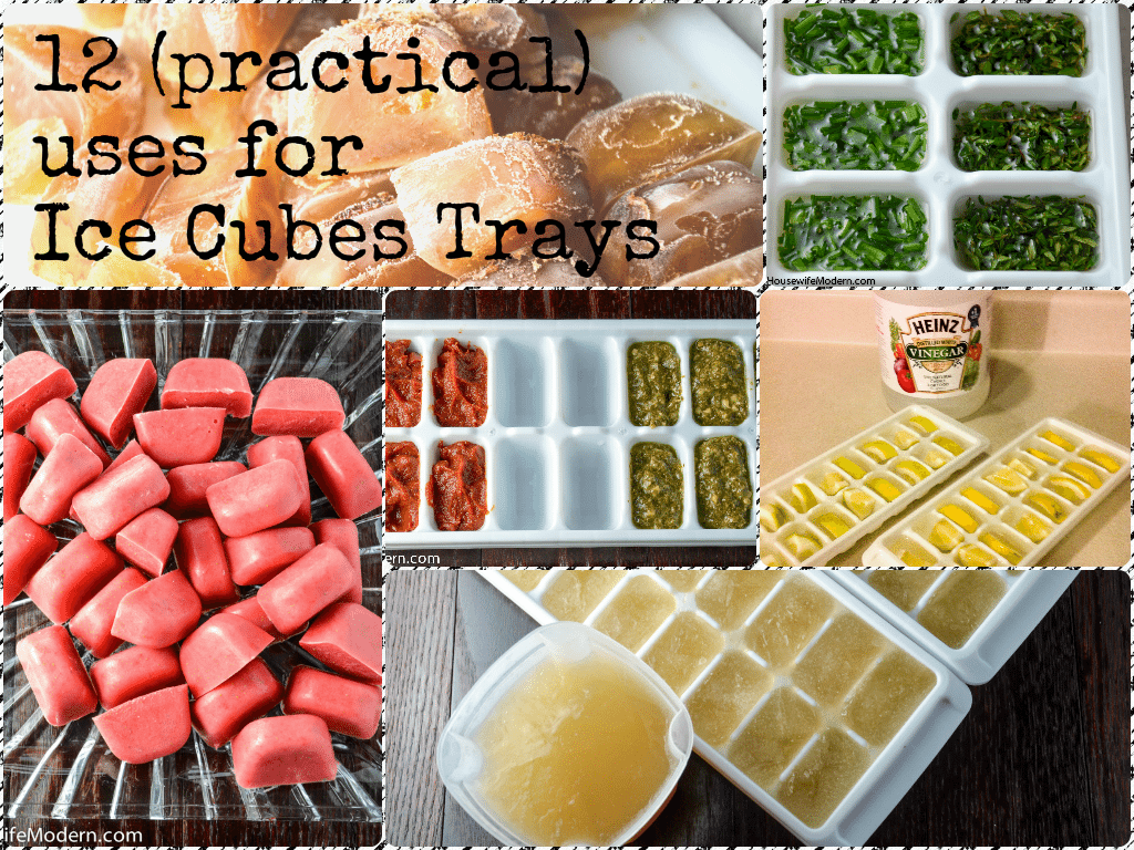 Save Money: 12 Practical Uses for Ice Cube Trays. How to save extra fruits, veggies, buttermilk, herbs, wine, and more that you would normally throw out. #money #save #savemoney #icecubetray