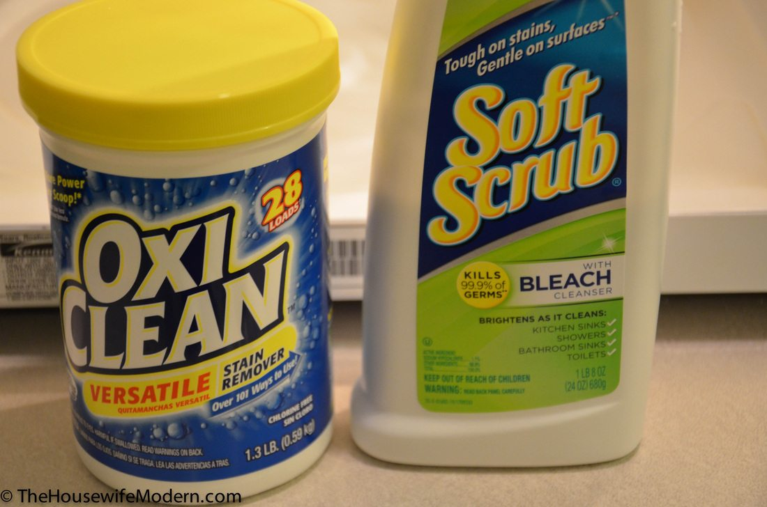 What finally worked? OxiClean powder and Softscrub.