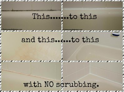 Genius solution that doesn't require scrubbing...works on both impossible to remove mold and other stains.