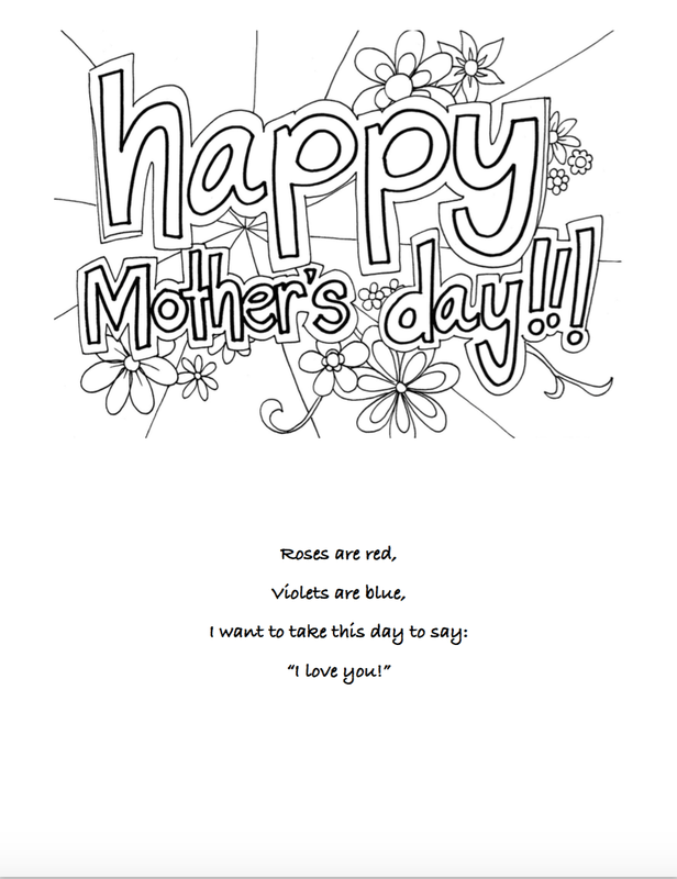 It's just a picture of Bewitching Mother's Day Card Printable Pdf