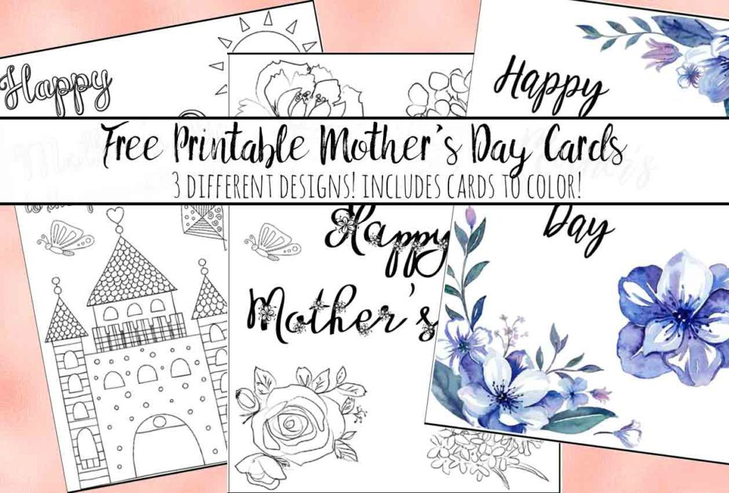 image regarding Printable Mothers Day Cards to Color Pdf identify No cost Printables: Earlier mentioned 100+ Printablescheck them all out!