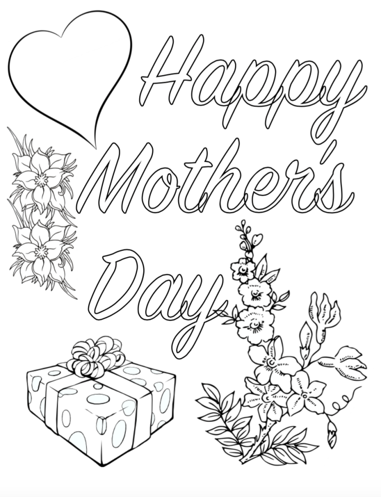 free printable mother 39 s day coloring pages 4 different. Black Bedroom Furniture Sets. Home Design Ideas