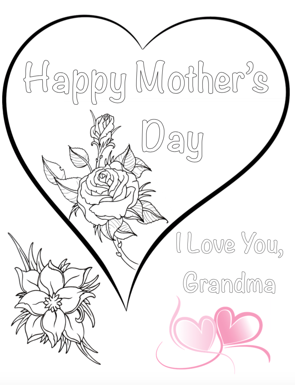 Free printable coloring pages mothers day - Free Printable Coloring Pages For Mother S Day Also Has A Coloring Sheet For Kids To