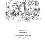Free Printable Mother's Day Cards: different designs for all ages. Younger ones can color, older ones fill out a poem. And card for grandma.