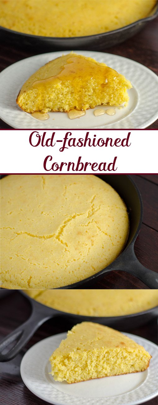 Old-fashioned, cast iron skillet cornbread. Most delicious cornbread you'll ever eat. (Includes instructions if you don't have cast-iron skillet).