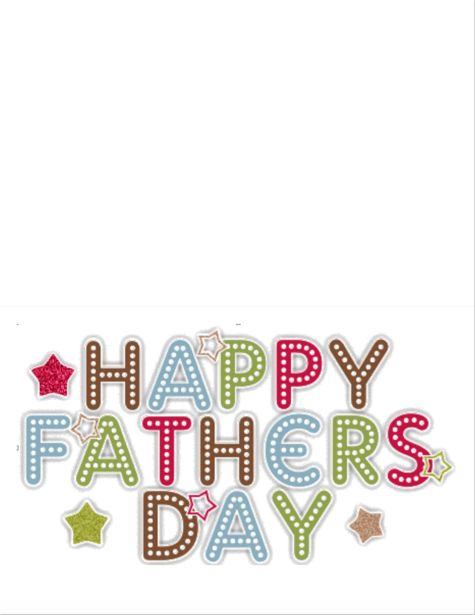 free printable father u0027s day cards children add their own personal
