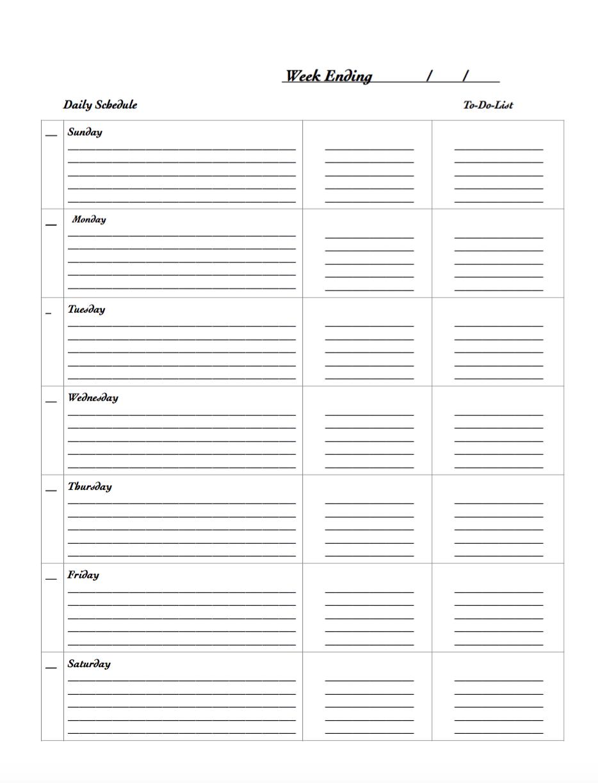 Uccp Calendar Planner : Free printable weekly planners designs