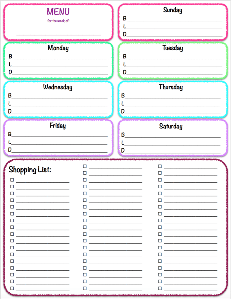 Free Printables: Weekly Meal Planner & Grocery List ~ The ...