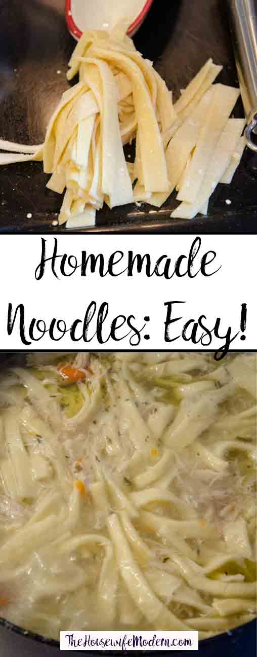Easy Homemade Noodles. 4 ingredients is all you need! Step-by-step pictures included. It's much easier than you think. Easier and cheaper than store-bought.