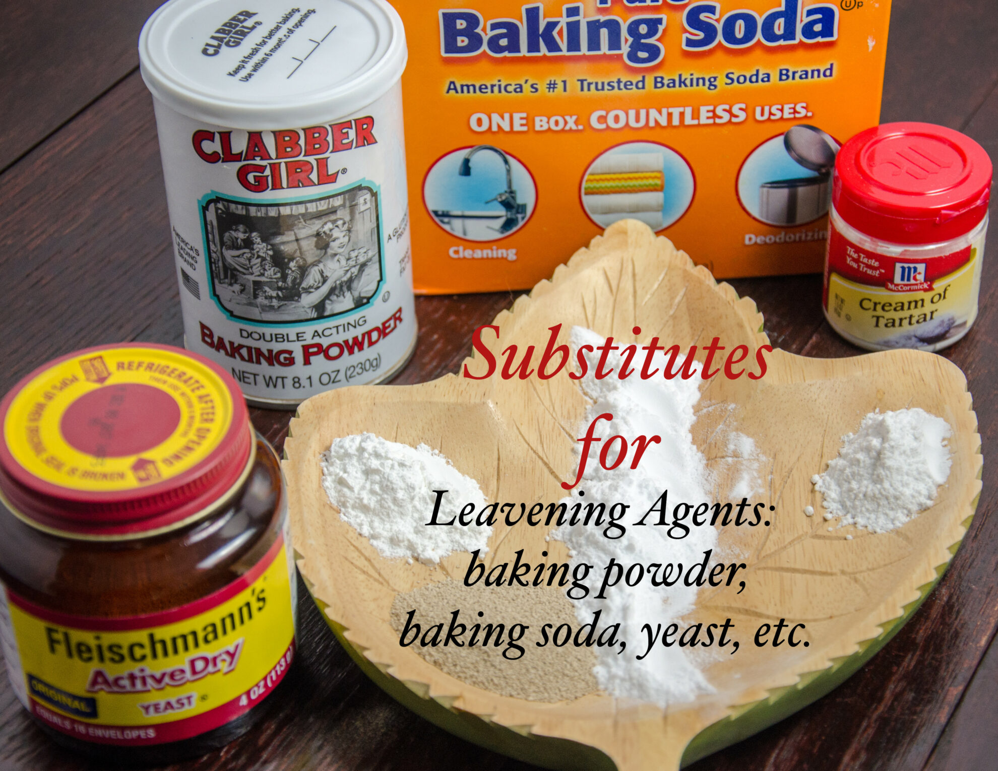 Substitutes for leaveners: baking powder, baking soda, yeast, etc. Everything you need to know!