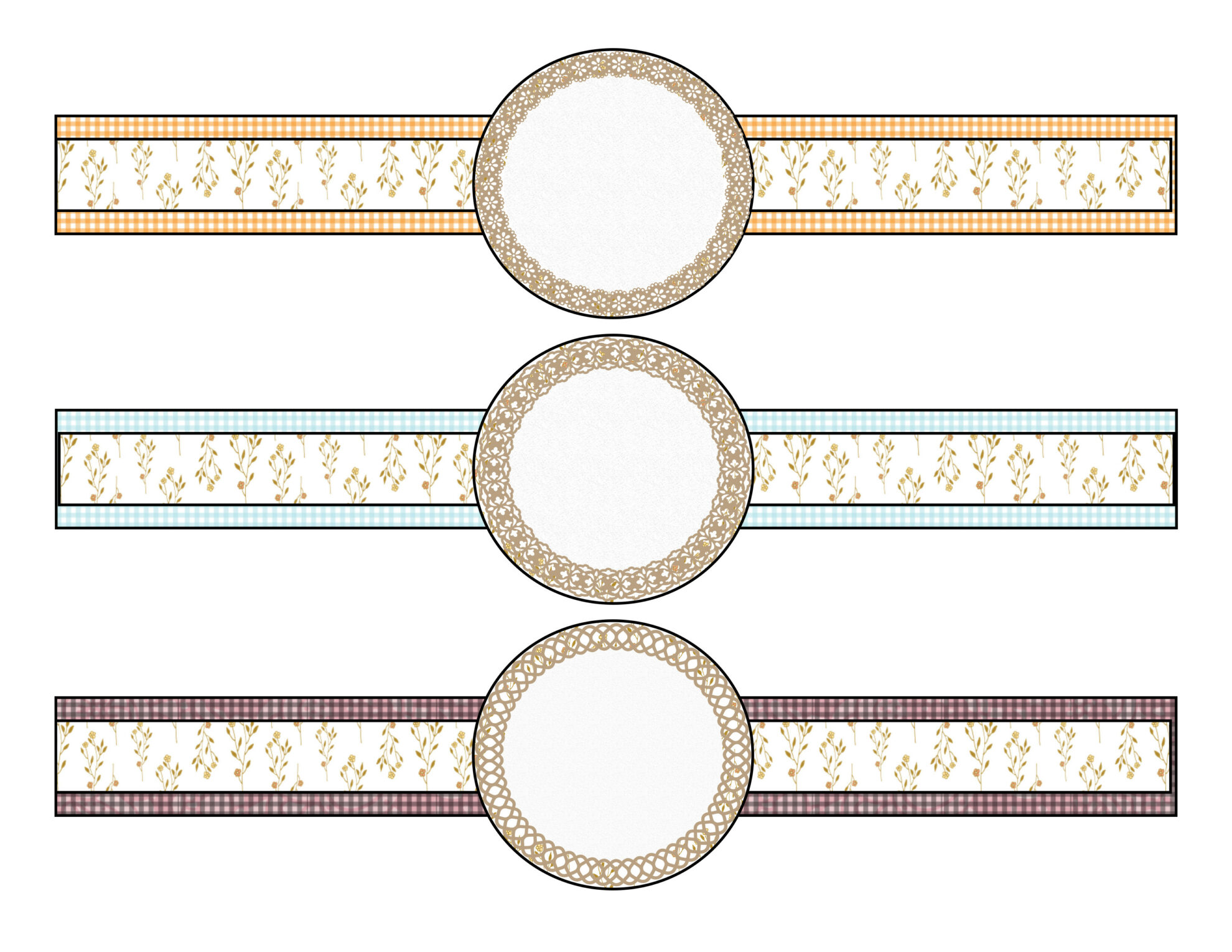 Free printable labels/bands for canning jars. 5 different designs, multiple color combinations. And links to more free printables!