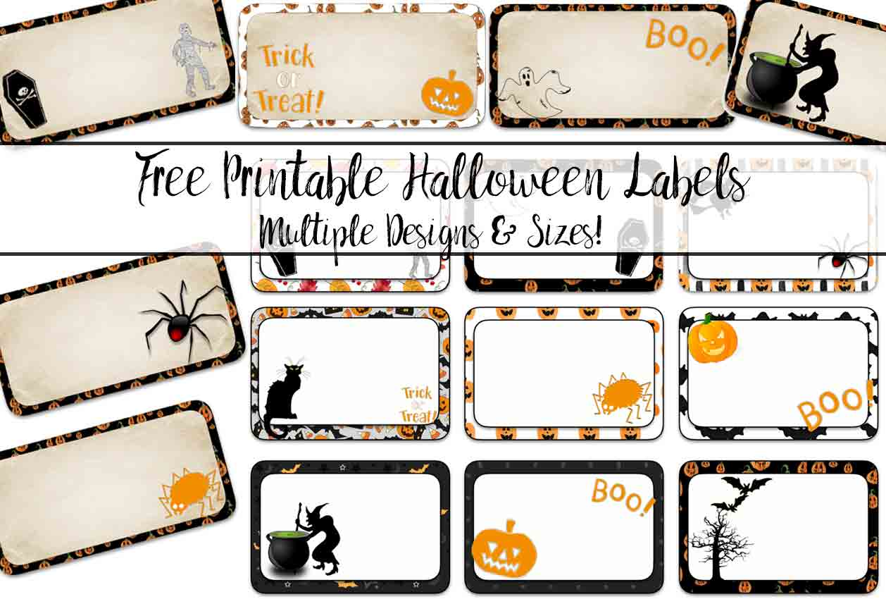 free printable halloween labels multiple sizes multiple designs