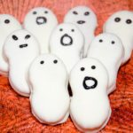 Halloween Ghosts. Nutter butters, white chocolate. Cute Halloween dessert, easy to make.