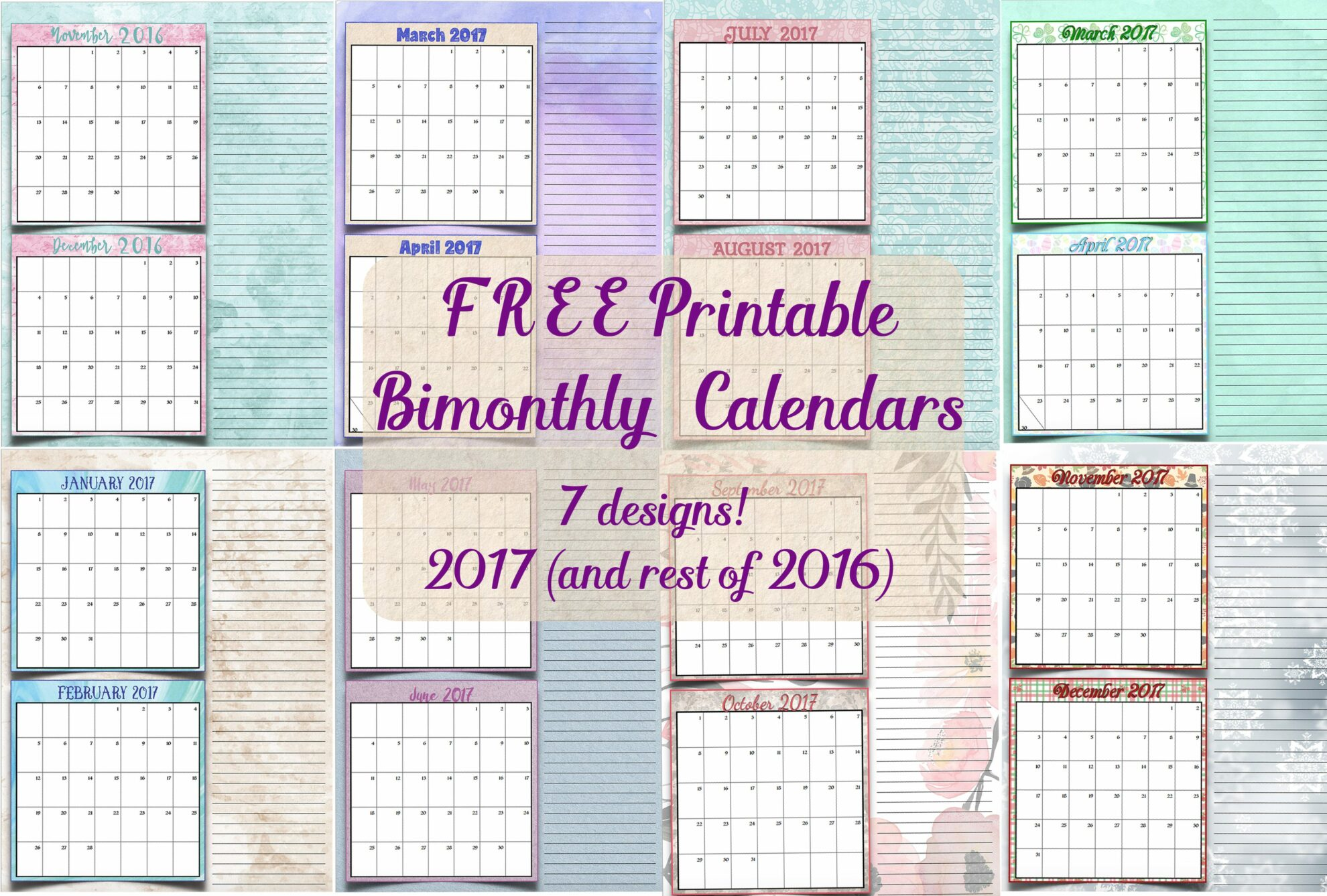 Vintage Calendar 2017 Printable : 書き込みできる 年のカレンダー スケジュール表帳 年 【平成 年】 印刷して使える