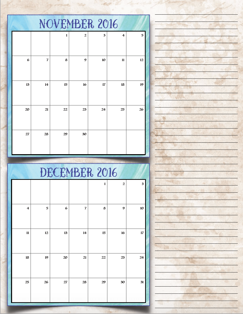 FREE Printable 2017 Bimonthly Calendars: 7 different designs! – The ...