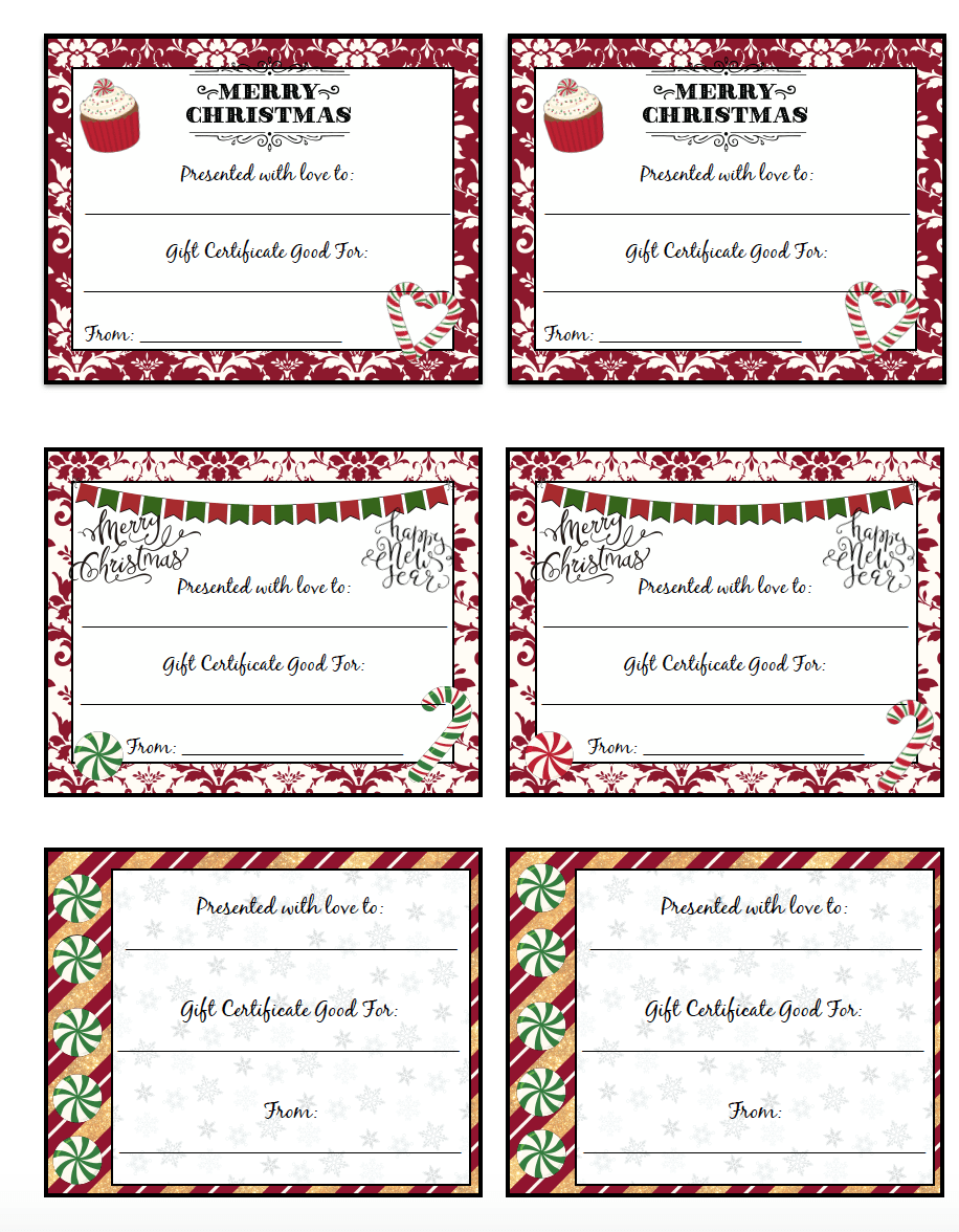 printable christmas gift certificates designs pick your printable christmas gift certificates 7 designs pick your favorites
