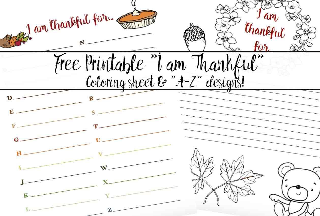 Free Printable Thankful for Worksheet 2 Designs – I Am Thankful for Worksheet