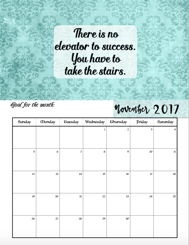 Calendar Quotes For Each Month : Free printable motivational monthly calendar