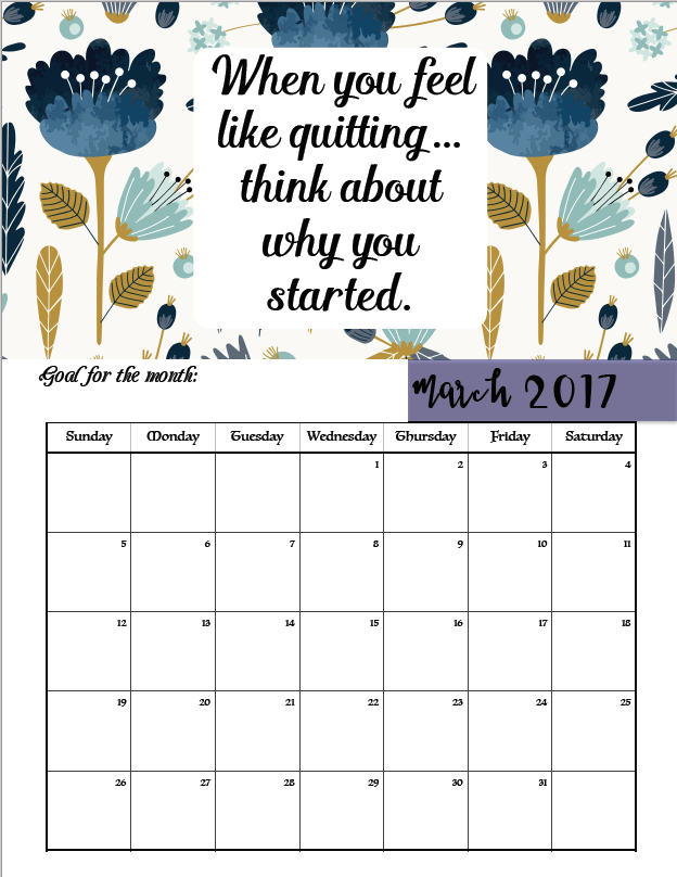 Funny Monthly Calendar Quotes : Free printable motivational monthly calendar