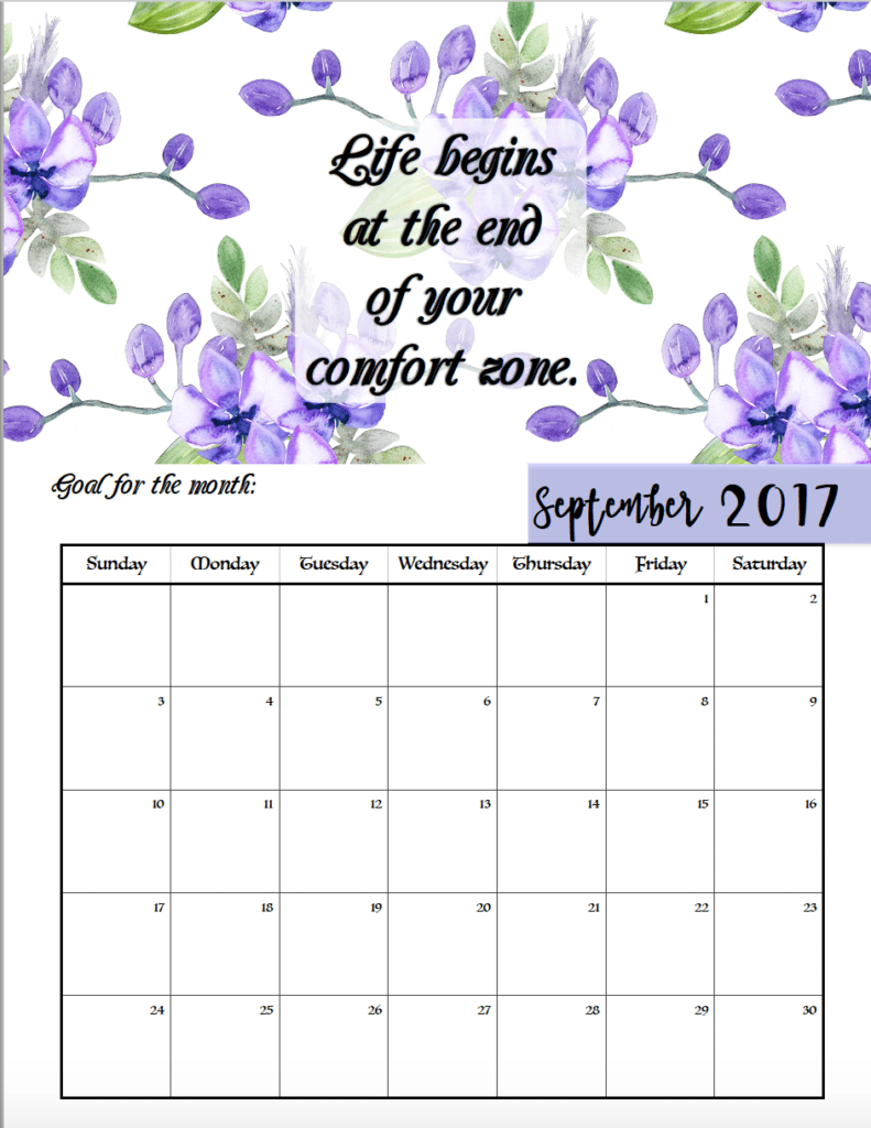 2017 printable monthly calendars with holidays