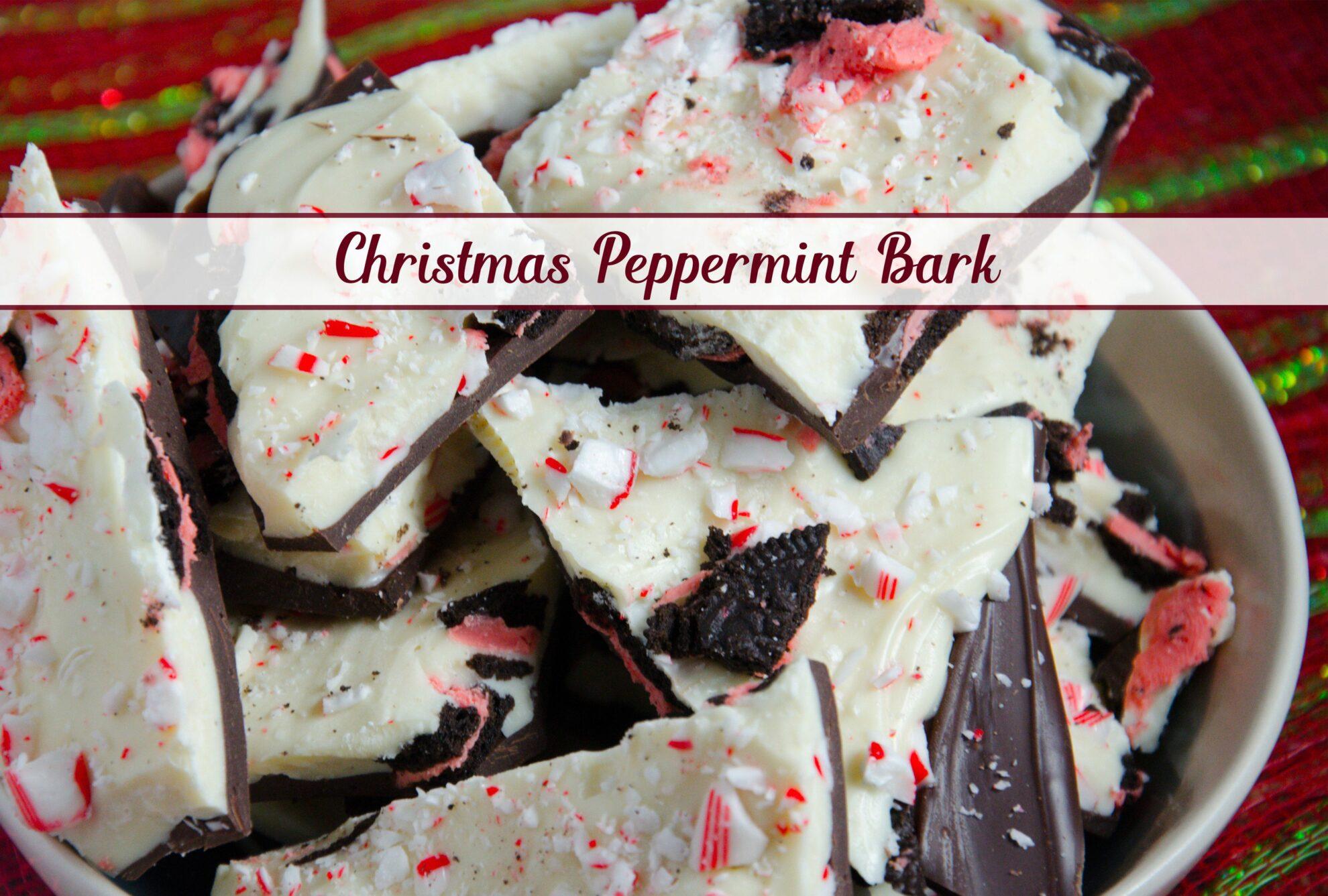 Easy white chocolate peppermint bark recipe