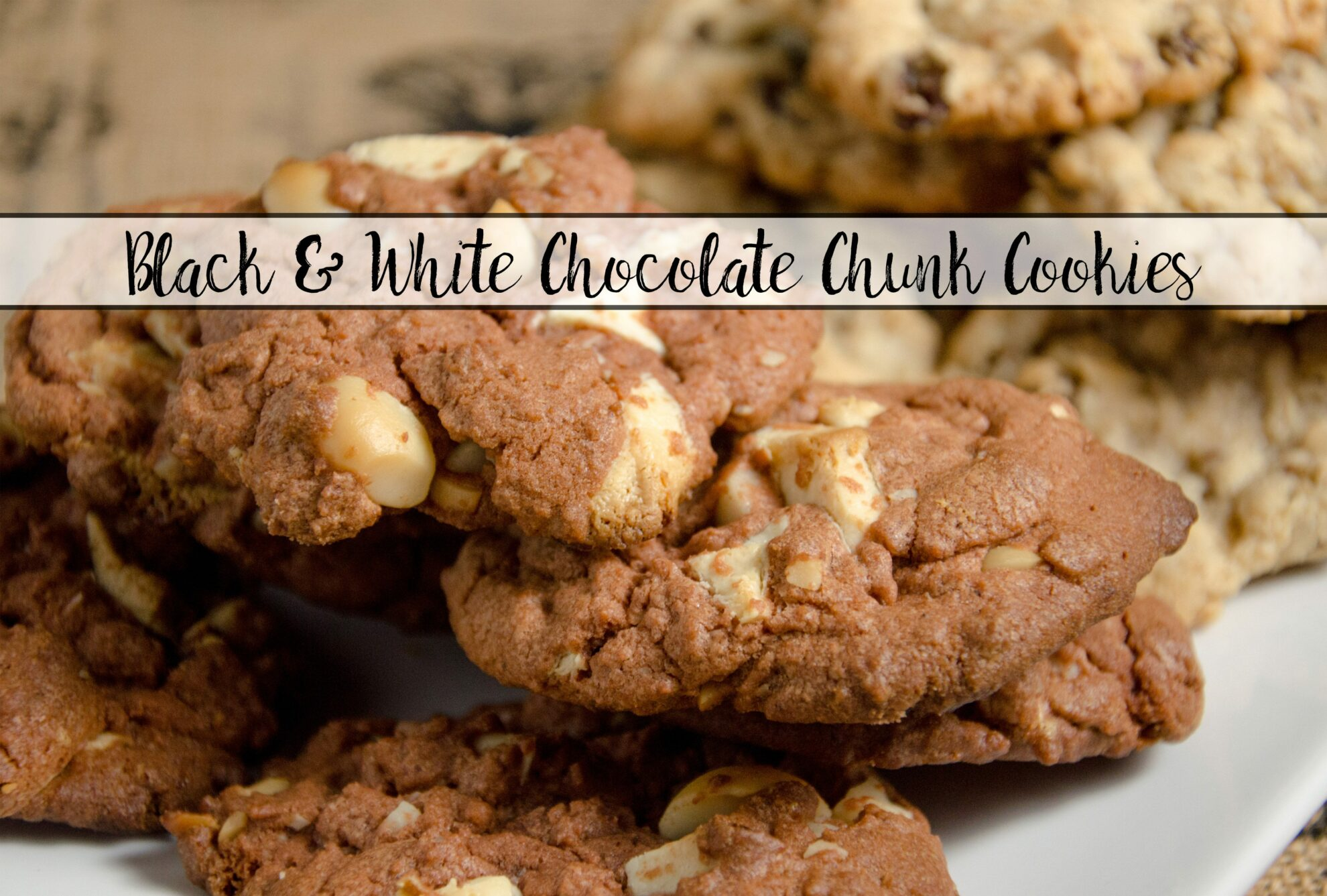 and white chocolate chunk cookies: decadent, soft, moist. Chocolate ...