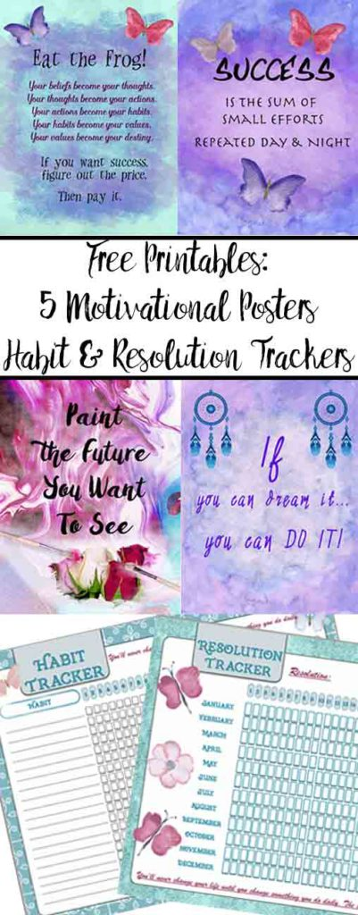 free printable motivational posters  habit tracker   u0026 resolution trackers