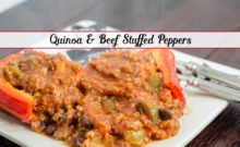 Easy Quinoa and Beef Stuffed Peppers: these peppers are healthy, filling, and taste FABULOUS!