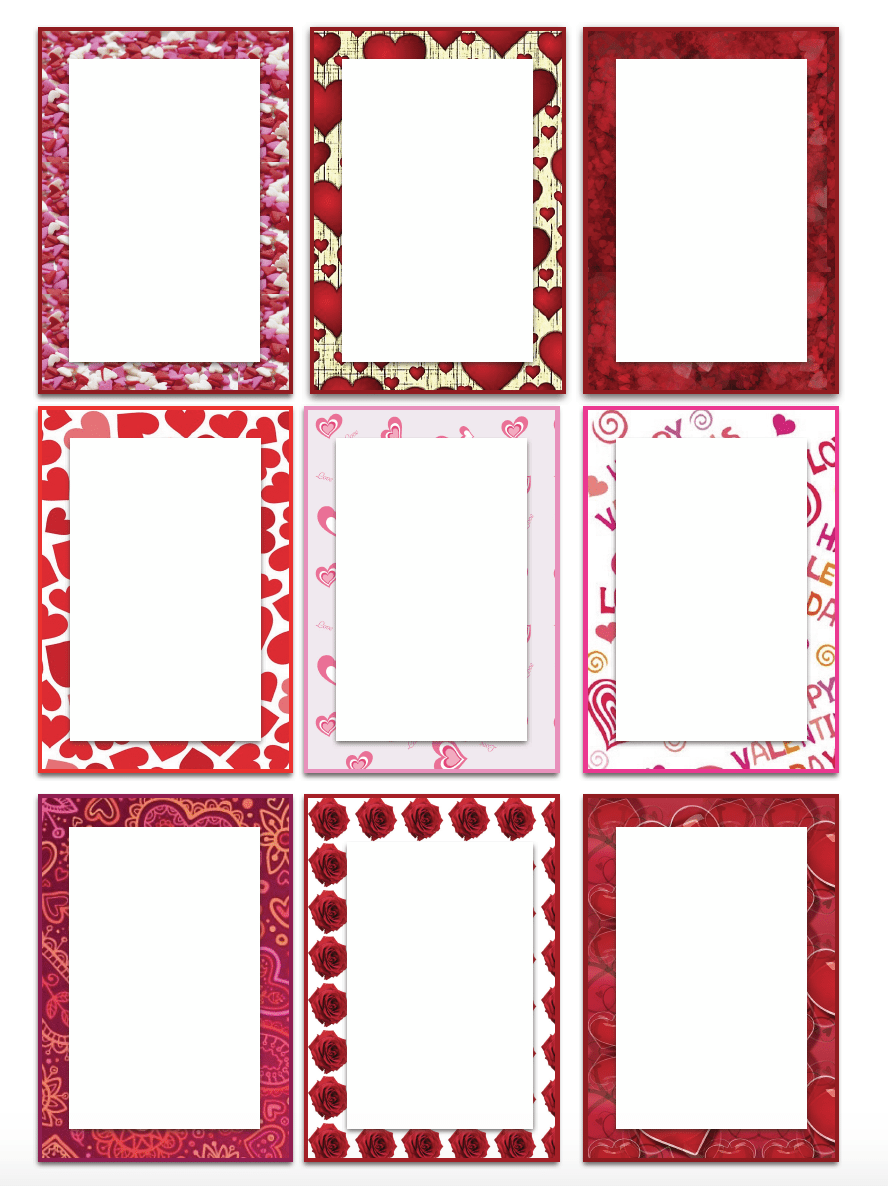 Free printable valentines day gift tags multiple designs sizes free printable valentines day gift tags 6 designs different sizes plus blank labels negle Gallery