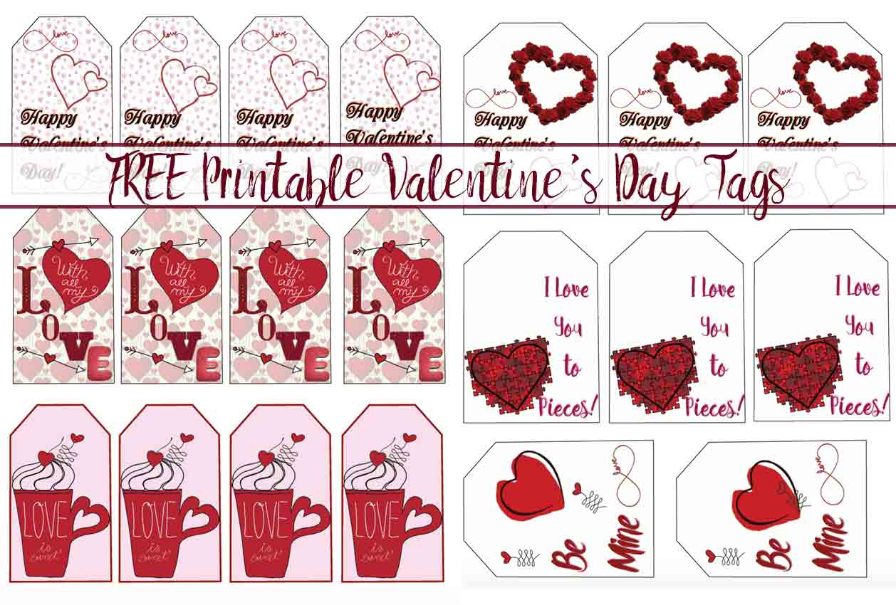 This is a picture of Wild Printable Valentine Tag