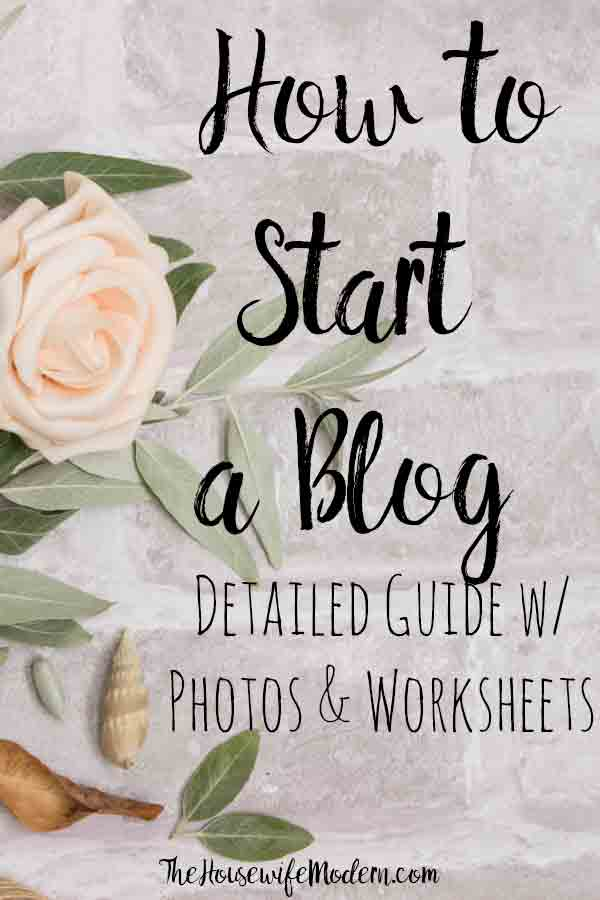 How to Start a Successful Blog: A Detailed Guide on how to build a blog with free printable worksheets. Everything you need to know plus step-by-step photos. #blogging #howto #blog #bloggingguide