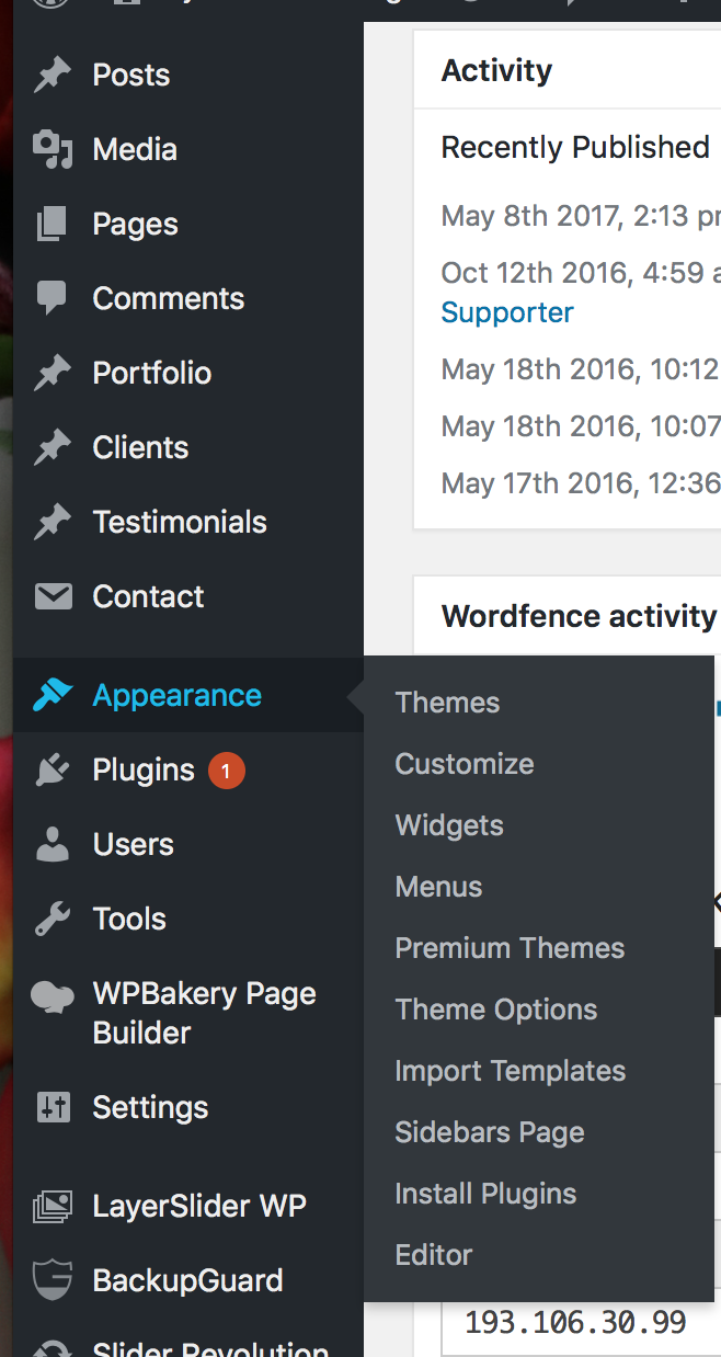 "To install a theme, go to ""Appearance,"" then click on ""Themes."""
