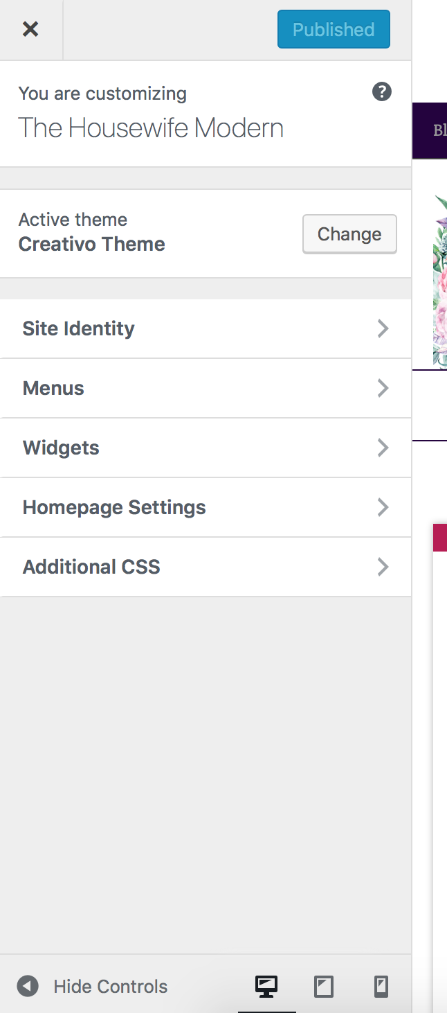 """Click on """"Homepage Settings""""."""
