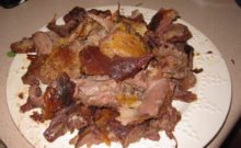 Cooked raccoon via: http://cannundrum.blogspot.com/2010/12/grilled-whole-raccoon.html