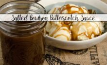 Homemade Salted Bourbon Butterscotch Sauce. Ridiculously easy to make (honestly). Delicious. Step-by-step pictures and instructions.