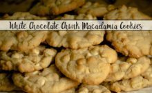 White chocolate chunk macadamia cookies: decadent, soft, moist. Perfect combination of rich cookie and white chocolate. & Tips on the perfect cookie.
