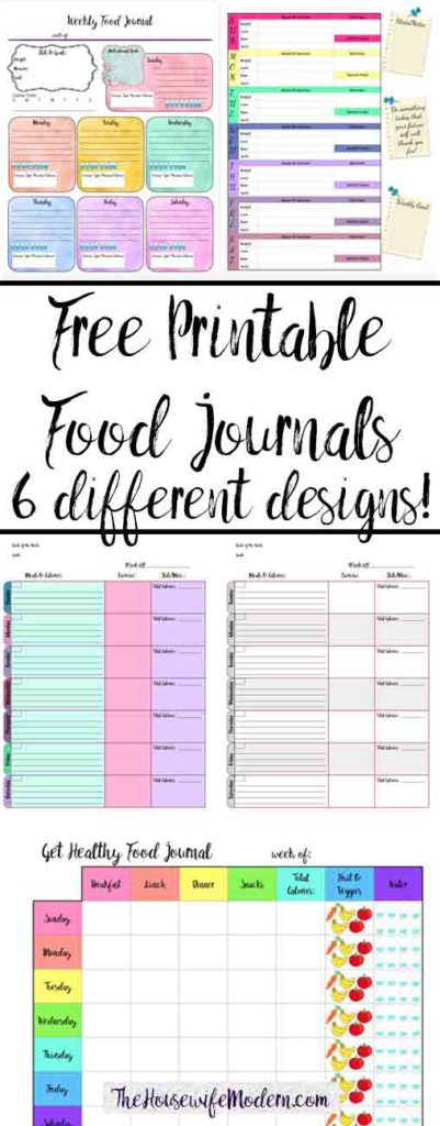 Stupendous image throughout food journal printable