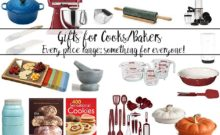 Gifts for Cooks/ Gifts for Bakers. The perfect gift- in every price range- for the person in your life who loves to cook.
