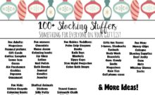 100+ Stocking Stuffers for Everyone on Your Gift List. Adults, women, men, teens, kids, babies & toddlers. More than 100 ideas!