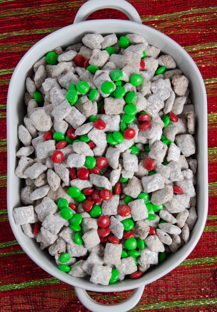 Reindeer Chow Christmas Chex Muddy Buddies