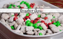Reindeer Chow, classic puppy chow with a Christmas twist. Easy Christmas Chex Muddy Buddies is sure to be a instant classic Christmas favorite.
