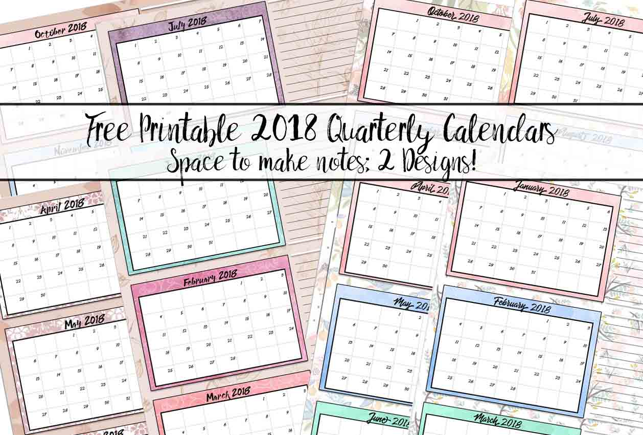 Quarterly Calendar Ideas : Quarterly calendar template gallery design