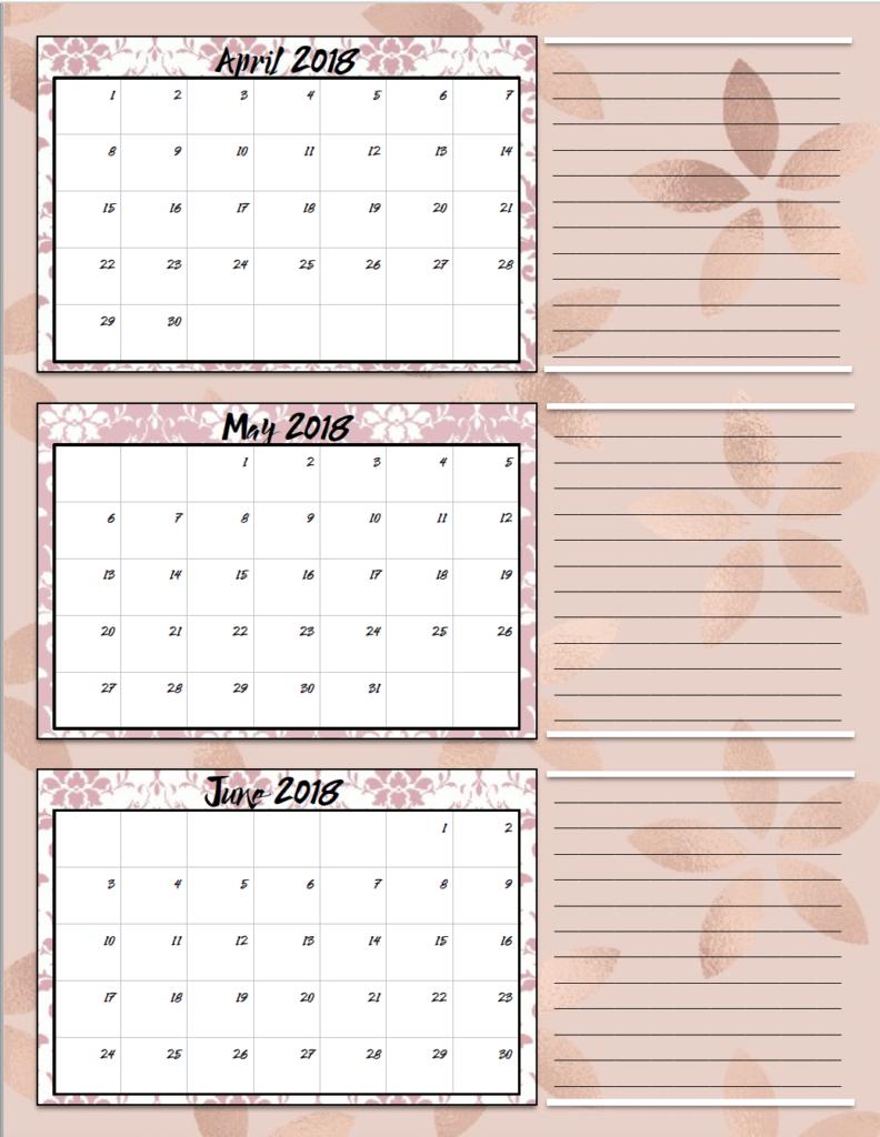 Calendar Quarters : Free printable quarterly calendars designs