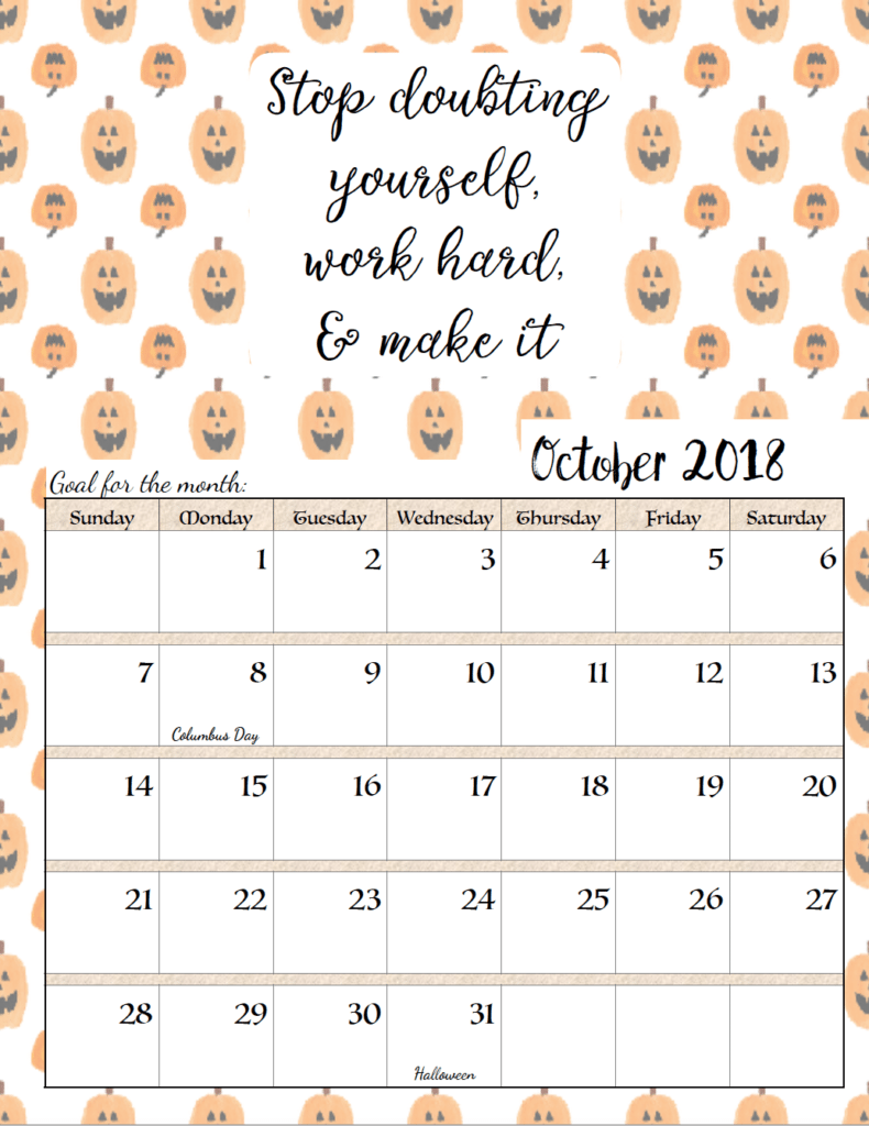 Calendar Quotes For Each Month 2018 : Free printable monthly motivational calendars