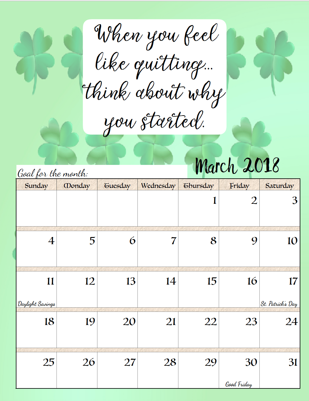 Funny Monthly Calendar Quotes : Free printable monthly motivational calendars