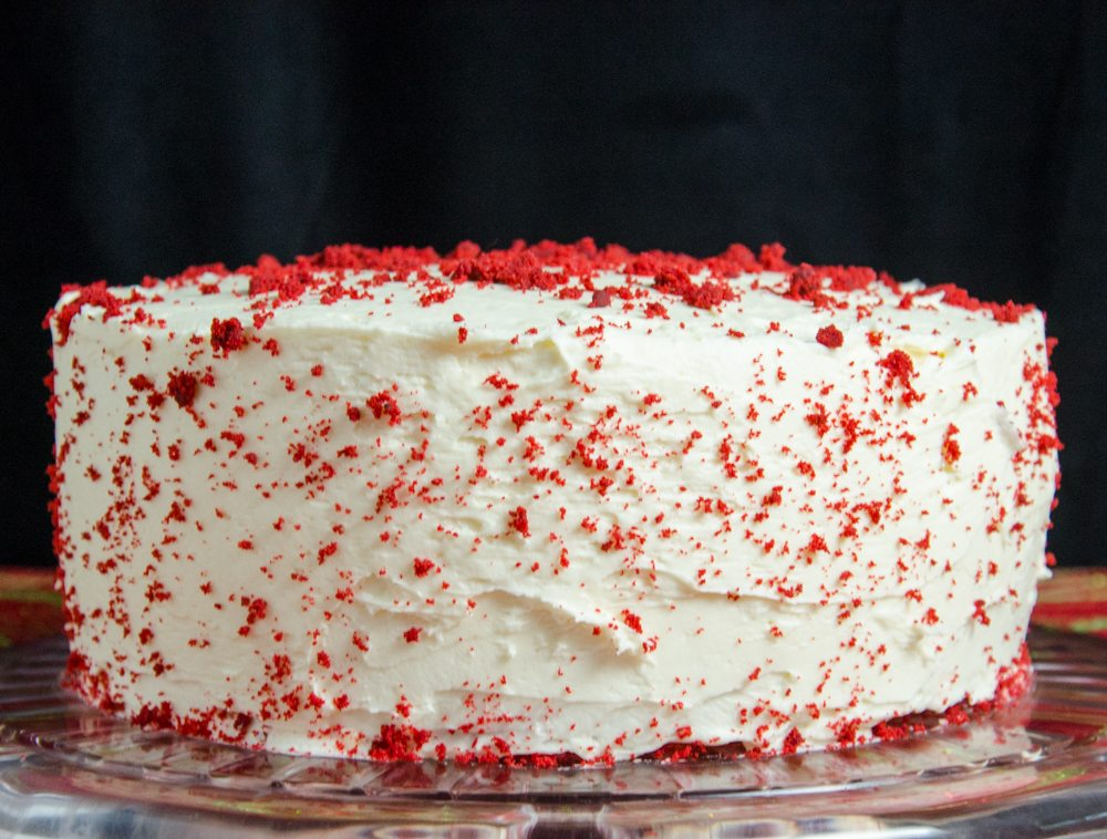 Layered Red Velvet and White Chocolate Cheesecake with White Chocolate Cream Cheese Frosting (aka: Red Velvet Cheesecake). The most delicious dessert you will ever make.