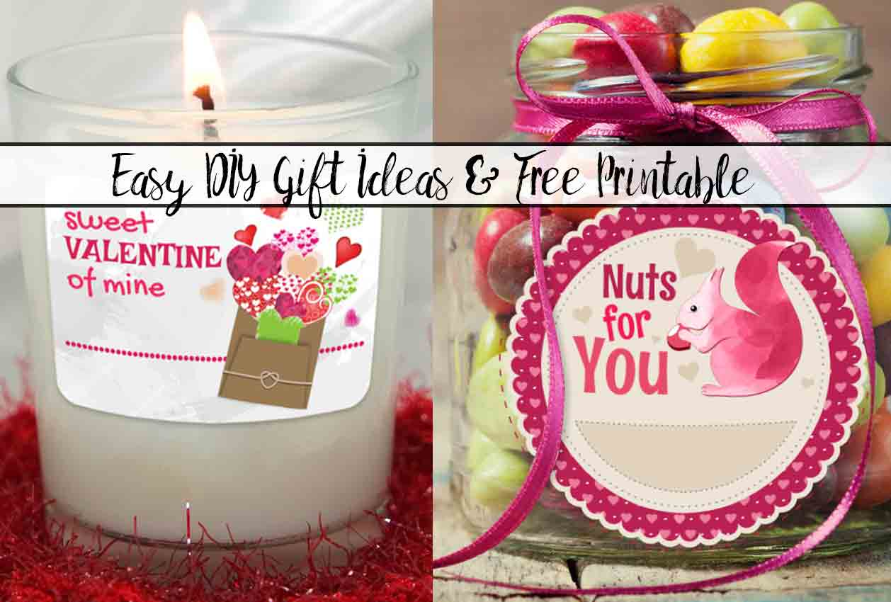 Easy DIY Valentine's Day Gift Ideas with Free Printable Free Printable Valentine's Day Decorations